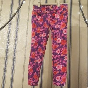 Cherokee Girls Purple, Pink, Red Floral Jeans